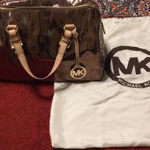 Michael Kors mirror bag rose gold